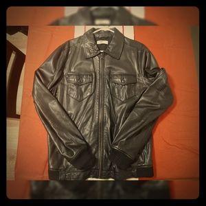 Men's Gap Black Leather Jacket